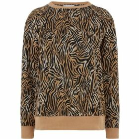 Warehouse Tiger Print Sweatshirt