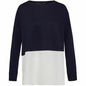 French Connection Lerato Jersey Mix Sweatshirt