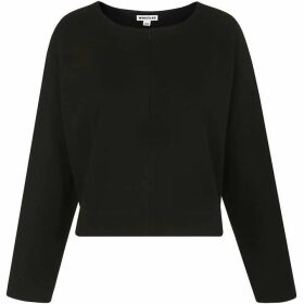 Whistles Zip Front Relaxed Sweatshirt