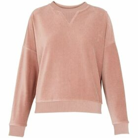 Whistles Cropped Velour Sweatshirt