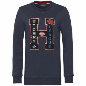 Tommy Hilfiger Trixie H Crew Neck Graphic Long Sleeve Sweatshirt
