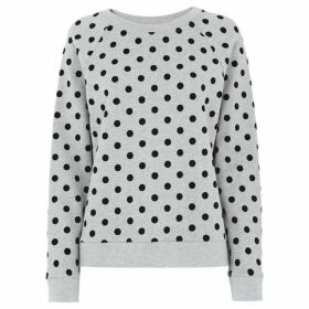Whistles Flocked Spot Sweatshirt