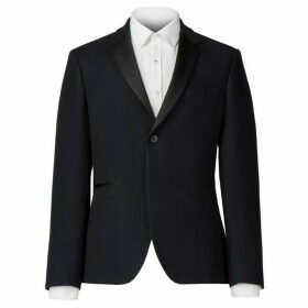 Racing Green Navy Flocked Tailored Fit Jacket