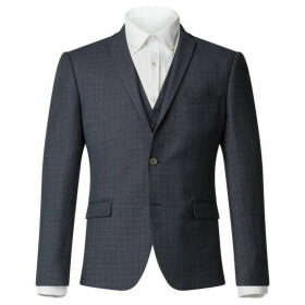 Limehaus Adwell Navy Semi-Plain Check Jacket