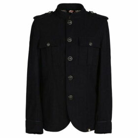 Pretty Green Wool Button Up Jacket