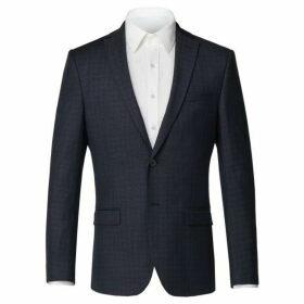 Limehaus Matthew Blue Semi-Plain Jacket