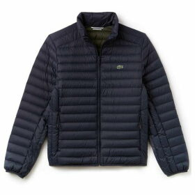 Lacoste Short Contrast Lining Quilted Jacket