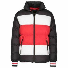 Tommy Hilfiger Stripe Quilted Bomber Jacket