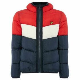 Lyle and Scott Colour Block Puffer Jacket