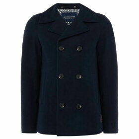 Scotch and Soda Brushed Cotton Pea Coat
