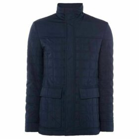 Kenneth Cole Harlem Quilted Funnel Neck Jacket