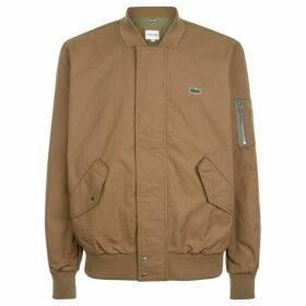Lacoste Lightweight Texturized Cotton Bomber Jacket