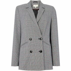 Linea Multi Check Double Breasted Jacket