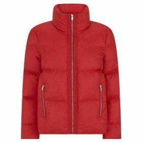 Mint Velvet Red Cropped Padded Jacket