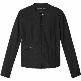 Sandwich Zip Fastening Linen Jacket