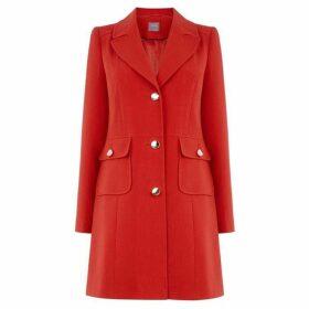 Oasis Double Crepe Pocket Coat