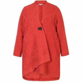 Chesca Crinkle Asymmetric Coat