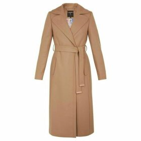 Ted Baker Wide Collar Long Wool Coat