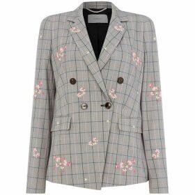 Marella Taiga check and floral jacket
