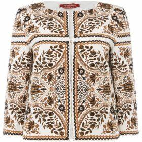 Max Mara Studio Zorro jacquard print jacket