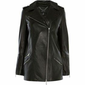 Karen Millen Longline Leather Jacket