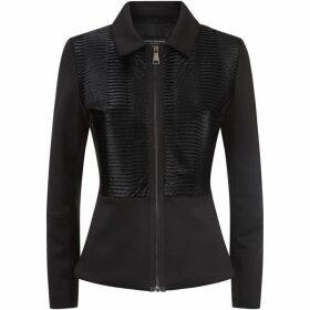 James Lakeland Pleated Faux Leather Jacket