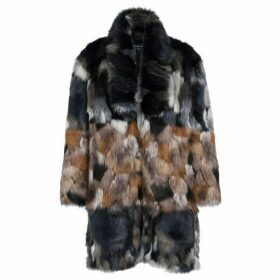 French Connection Golda Faux Fur High Collar Coat