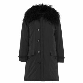 French Connection Marlow Utility Faux Fur Collar Parka