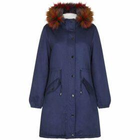 Yumi Faux Fur Trim Hood Parka Coat