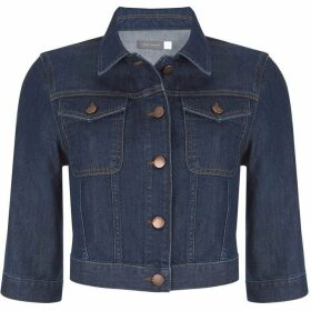 Mint Velvet Indigo Cropped Denim Jacket