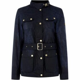 Barbour International Oulton Belted Wax Jacket