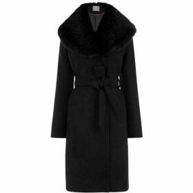 Oasis Birch Glam Wrap Coat
