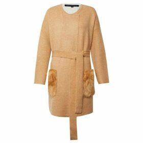 French Connection Vhari Faux Fur Pocket Coatigan