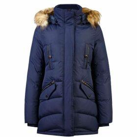 Carolina Cavour Ladies Down Winter Jacket With Faux Fur Hood