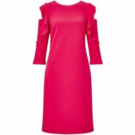 James Lakeland Ruffle three quarter Sleeve Dress