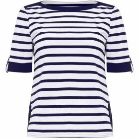 Damsel in a Dress Preppy Stripe Jersey Top