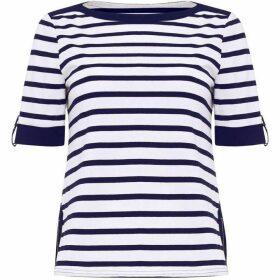 Damsel in a Dress Preppy Stripe Jersey Top