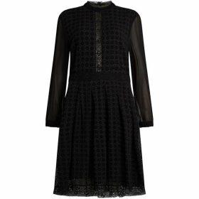All Saints Lilith Long Sleeve Lace Dress