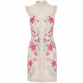Karen Millen Embroidered Georgette Dress