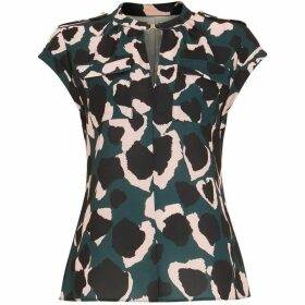 Damsel in a Dress Lola Camo Print Blouse