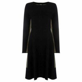 DKNY Herringbone printed dress