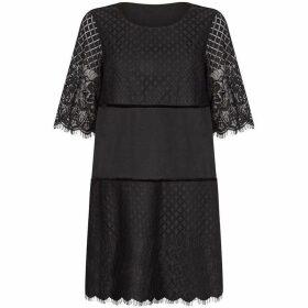 Yumi Lace And Velvet Tunic Dress