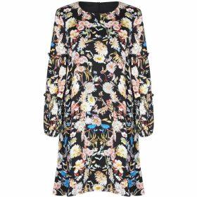 Yumi Floral Frill Sleeve Tunic Dress