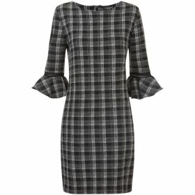James Lakeland Check Bell Sleeve Dress