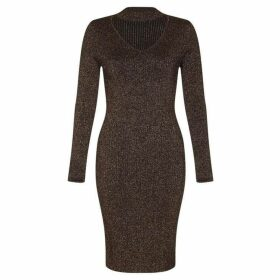 Yumi Knitted Lurex Bodycon Dress