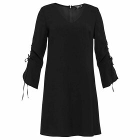 Hallhuber A-Line Dress With Ruffled Sleeves