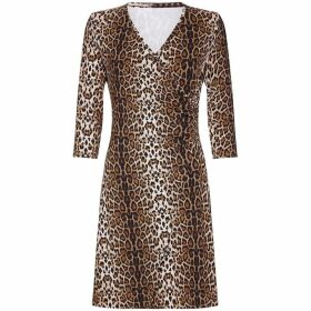 Mela London Curve Mela Curve Leopard Print Wrap Dress