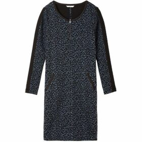Sandwich Leopard Jacquard Dress