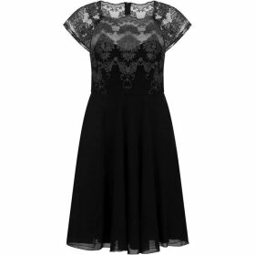 Chi Chi Cap Sleeve Baroque Style Tea Dress