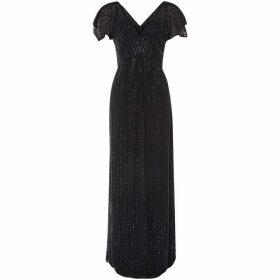 Dex Clothing V Neck Beaded Dress